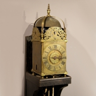 Rare half hour striking, one day duration, English Lantern clock with verge escapement. circa 1670.