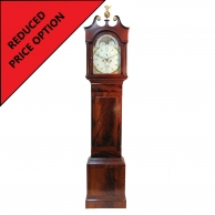 Mahogany moonphase, eight day longcase clock by John Warry of Bristol. Circa 1815.