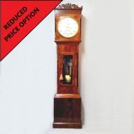 Longcase clock domestic regulator. Mahogany case. Circa 1850.