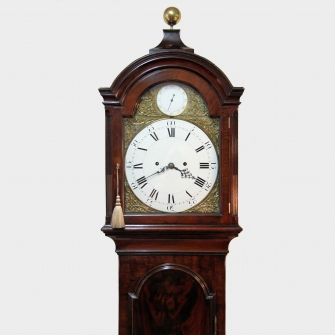 A Fine and rare George III mahogany Mude & Dutton style longcase clock by Thomas Best, London. C