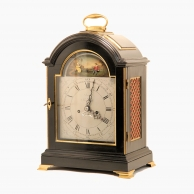 Rare automata, triple pad top, table clock by Joseph Irish of Portsmouth. Circa 1790.