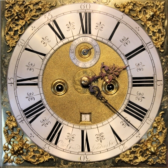A fine walnut and marquetry longcase clock by Christoper Gould, London. Circa 1695.