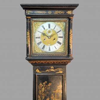Early Longcase clock  signed harvey Havelland of Corfe Castle, Dorset.