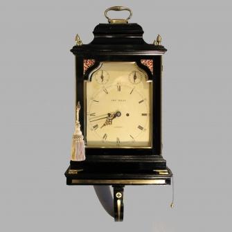 Verge table clock on bracket.