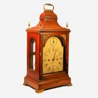 Small mahogany, verge escapement table clock by Benjamin Lautier of Bath. Circa 1795.