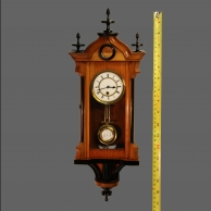 Miniature Vienna timepiece.