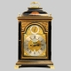Verge escapement bracket clock by Nicholas Lambert, London. Quarter repeating and in a parcel gilt e