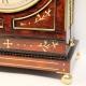 A good Regency, gadrooned chamfer top bracket clock in an elaborate mahogany case. Circa 1815.
