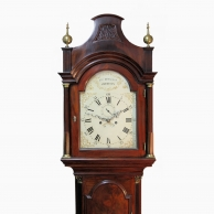 Mahogany Longcase clock with an early white dial by John Douglass of Chertsey. Circa 1780.