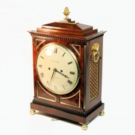 A Regency period, striking, Chamfer-top bracket clock by William Vesper of London, having a mahogany