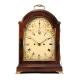 Georgian mahogany bracket clock with painted break-arch dial by John Harris of London. Circa. 1785.