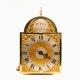 A miniature verge escapement lantern alarum timepiece by William peck of Bolnhurst. Circa 1745.