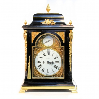 A good, verge escapement bracket clock by John Joseph Merlin, London. Circa 1780.
