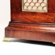 Verge escapement bracket clock in a triple pad, break-arch mahogany case by Jabez Smith of London. C