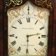 A large, quarter chiming bracket clock in an inlaid mahogany case. Circa 1850.