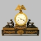 A French striking mantel clock in a classical style case. Circa 1820.
