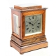 English Library clock in a rosewood, 5-glass case. By Muston & Gath, Bristol. Circa 1856.