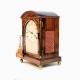 A good Rosewood fusee table bracket clock for sale. By Brockbank & Atkins, London. In a break-ar