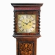 An important and rare early English, small Marquetry Longcase Clock. Attributed to Nathaniel Pyne.