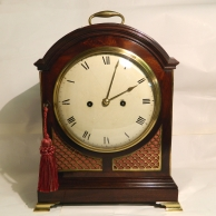 English break-arch bracket clock