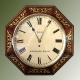 Regency style brass inlaid rosewood octagonal fusee English Dial.